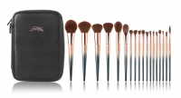 JESSUP - STARRY BLACK LUXURY SET - Set of 18 make-up brushes + Cosmetic bag - T264 + CB006