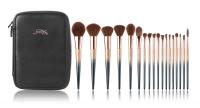 JESSUP - STARRY BLACK LUXURY SET - Set of 18 make-up brushes + Cosmetic bag - T264 + CB006