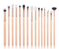 JESSUP - Classics Chrysalid Series Brushes Set - Set of 15 make-up brushes - T447 Peach Puff / Rose Gold