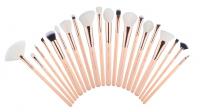 JESSUP - Classics Chrysalid Series Brushes Set - Zestaw 20 pędzli do makijażu - T443 Peach Puff/Rose Gold