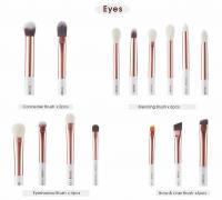 JESSUP - Individual Brushes Set - Zestaw 15 pędzli do makijażu - T217 White/Rose Gold