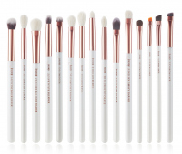 JESSUP - Individual Brushes Set - Set of 15 make-up brushes - T217 White / Rose Gold