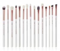 JESSUP - Individual Brushes Set - Set of 15 make-up brushes - T217 White / Rose Gold