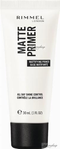 RIMMEL - LASTING MATTE PRIMER - Matująca baza pod makijaż - 30 ml
