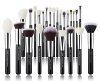 JESSUP - Individual Brushes Set - Set of 25 make-up brushes - T175 Black / Silver