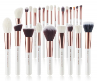 JESSUP - Individual Brushes Set - Set of 25 make-up brushes - T215 White / Rose Gold
