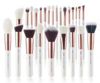 JESSUP - Individual Brushes Set - Set of 25 make-up brushes - T215 White / Rose Gold