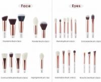 JESSUP - Individual Brushes Set - Zestaw 25 pędzli do makijażu - T215 White/Rose Gold