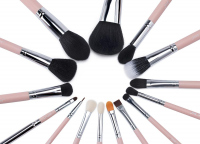 JESSUP - Essential Brushes Set - Zestaw 15 pędzli do makijażu - T094 Pink/Silver