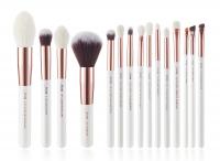 JESSUP - Individual Brushes Set - Zestaw 15 pędzli do makijażu - T222 White/Rose Gold