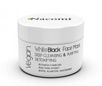 Nacomi - White Black Face Mask - Detoksykująco-oczyszczająca maseczka do twarzy z aktywnym węglem - 50 ml