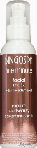 BINGOSPA - One Minute - Facial Mask - Face mask with macadamia oil - 150 g