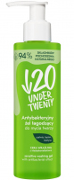 UNDER TWENTY - Antibacterial aloe vera gel for washing the face - Sensitive skin - 190 ml