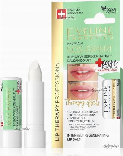 Eveline Cosmetics - LIP THERAPY PROFESSIONAL - S.O.S. EXPERT LIP BALM - Intensywnie regenerujący balsam do ust - Na wiatr i mróz