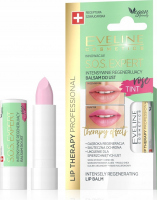EVELINE - LIP THERAPY PROFESSIONAL - S.O.S. EXPERT LIP BALM - Intensively regenerating, coloring lip balm - Rose