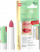 EVELINE - LIP THERAPY PROFESSIONAL - S.O.S. EXPERT LIP BALM - Intensively regenerating, coloring lip balm - Red