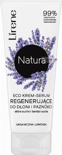 Lirene - Natura - Eco krem serum regenerujące do dłoni i paznokci - Skóra sucha i bardzo sucha - Lawenda - 75 ml