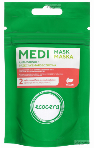 Ecocera - Anti-wrinkle cosmetic mack based on gold, silver and colloidal copper - 50 g