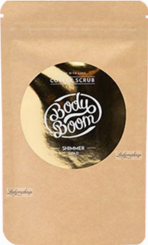 BodyBoom ​​- Coffee Peeling - Shimmer Gold - 100 g