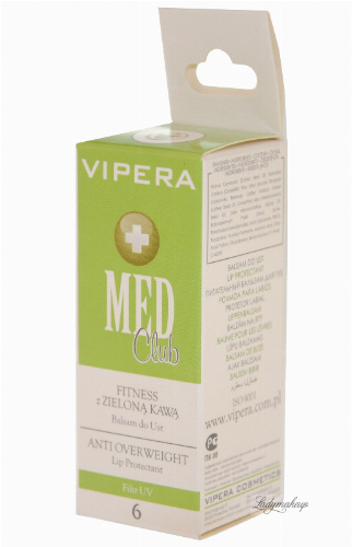 Vipera - Med Club - Balsam do ust FITNESS Z ZIELONĄ KAWĄ 6