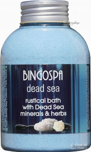 BINGOSPA - Dead Sea - Rustical Bath - Rustic bath with Dead Sea minerals and herbs - 620 g