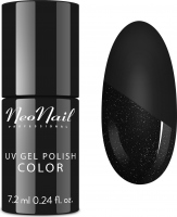 NeoNail - UV GEL POLISH - TOP GLOW SILVER - Top / Topcoat with shiny particles - 7.2 ml - ART. 7241-7