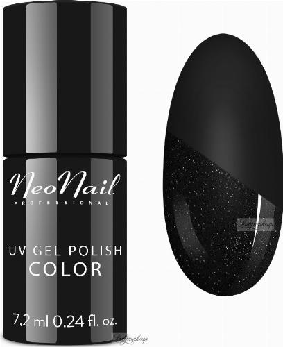 NeoNail - UV GEL POLISH - TOP GLOW SILVER - Top / Lakier nawierzchniowy z błyszczącymi drobinkami - 7,2 ml - ART. 7241-7