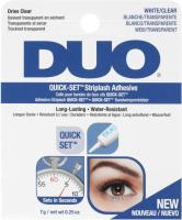 DUO - QUICK-SET Striplash Adhesive- Eyelash Adhesive 7g - CLEAR-WHITE - CLEAR-WHITE