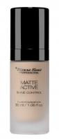 Pierre René - MATTE ACTIVE SHINE CONTROL FLUID FOUNDATION - Mattifying foundation for the face