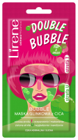 Lirene - DOUBLE BUBBLE - PINK & GREEN - CICA clay facial mask - 2x5 g