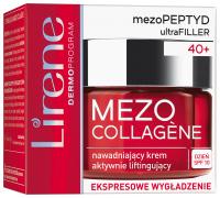 Lirene - MEZO COLLAGENE - Nawadniająco-liftingujący krem do twarzy - SPF 10 - 40+
