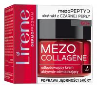 Lirene - MEZO COLLAGENE - Odmładzająco-odbudowujący krem do twarzy - Noc - 60+
