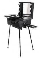 Przenośny stolik do makijażu / Stanowisko wizażysty DB-2008HB-3 - Czarne