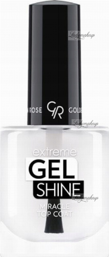 Golden Rose - Extreme Gel Shine Miracle Top Coat - Żelowy utwardzacz do paznokci