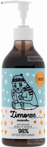 YOPE - NATURALNE MYDŁO W PŁYNIE - Zimowe Ciasteczka - 500 ml