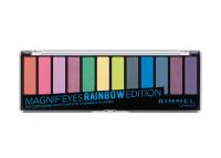 RIMMEL - MAGNIF'EYES - Eye Contouring Palette - Paleta 12 cieni do powiek - 011 RAINBOW EDITION
