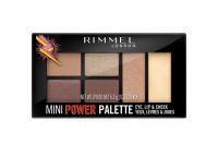 RIMMEL - MINI POWDER PALETTE - Mini makeup palette for eyes, lips and cheeks - 001 FEARLESS