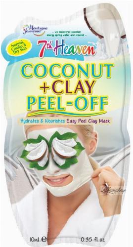 7th Heaven (Montagne Jeunesse) - Coconut + Clay Peel Off - Coconut oil mask - Peel Off