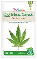 7th Heaven (Montagne Jeunesse) - CBD-Infused Cannabis - Clay Face Mask - Detoksykująco-regenerująca maseczka do twarzy z dodatkiem konopi siewnych