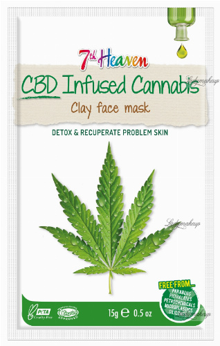 7th Heaven (Montagne Jeunesse) - CBD-Infused Cannabis - Clay Face Mask - Detoxifying and regenerating face mask with the addition of hemp