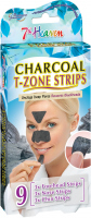 7th Heaven (Montagne Jeunesse) - Charcoal T-Zone Strips - Cleansing carbon patches for the T-zone - 9 pcs.