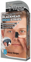 7th Heaven (Montagne Jeunesse) - Charcoal & Tea Tree Blackhead Nose Strips - 8 cleansing nose patches for men
