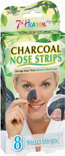 7th Heaven (Montagne Jeunesse) - Charcoal Nose Strips - Oczyszczające plastry węglowe na nos - 8 szt.