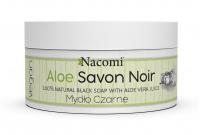 Nacomi - Aloe Savon Noir - 100% Natural Black Soap - Czarne mydło z sokiem z aloesu - 125 g