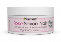 Nacomi - Rose Savon Noir - 100% Natural Black Soap - Black soap with different water - 125 g