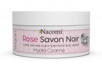Nacomi - Rose Savon Noir - 100% Natural Black Soap - Czarne mydło z wodą różną - 125 g