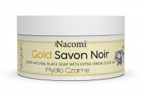 Nacomi - Gold Savon Noir - 100% Natural Black Soap - Black soap with olive oil -125 g