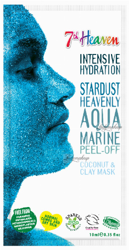 7th Heaven (Montagne Jeunesse) - Intensive Hydration Stardust Heavenly Aqua Marine - Moisturizing face mask heavenly aquamarine - Peel Off