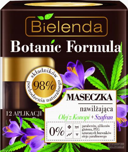 Bielenda - Botanic Formula - Moisturizing Face Mask - Hemp + Saffron - Moisturizing mask - Hemp + Saffron - 50 ml
