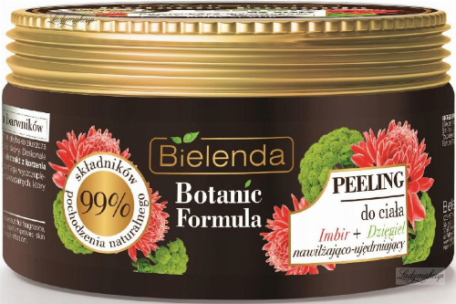 Bielenda - Botanic Formula - Body scrub - Ginger + Angelica - Moisturizing and firming body scrub - Ginger + Angelica - 350 g
